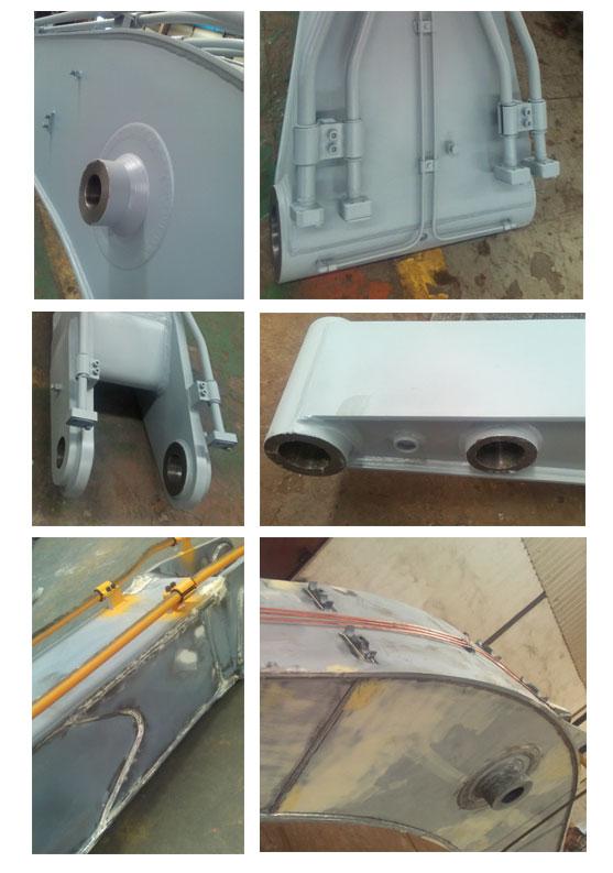 details of excavator boom arm