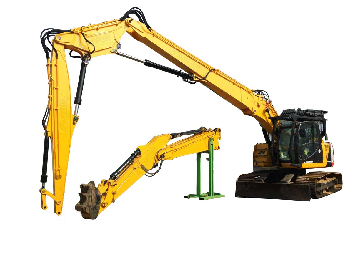 Excavator Long Reach Booms & Sticks - Victory Attachment