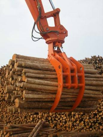 excavator log grapple
