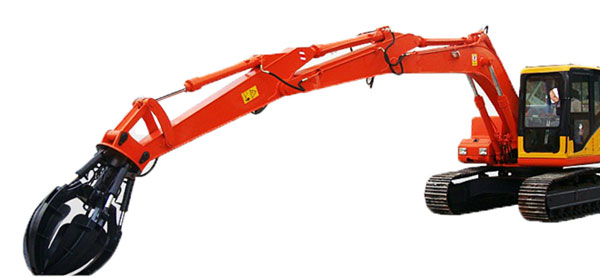 excavator standard boom arm with extension arm